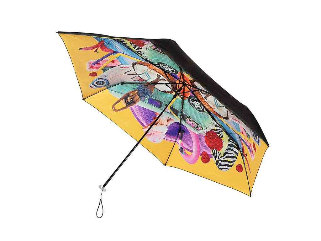 MiniMAX Personal žlutý skládací deštník s UV ochranou