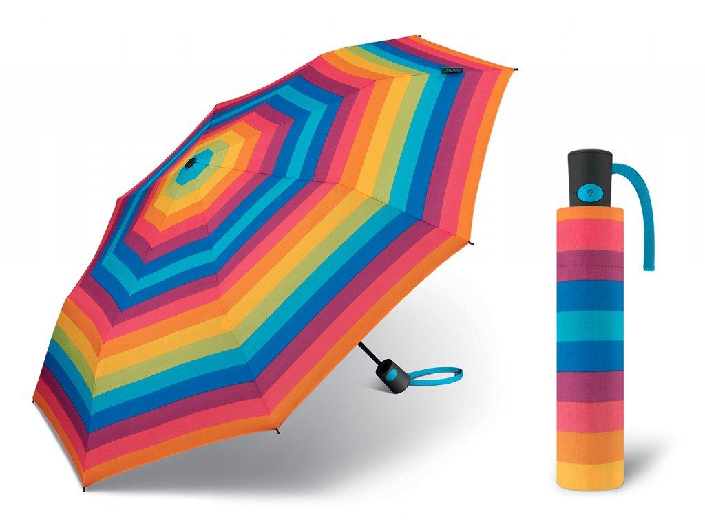 Dámský vystřelovací deštník Benetton Mini AC proužky