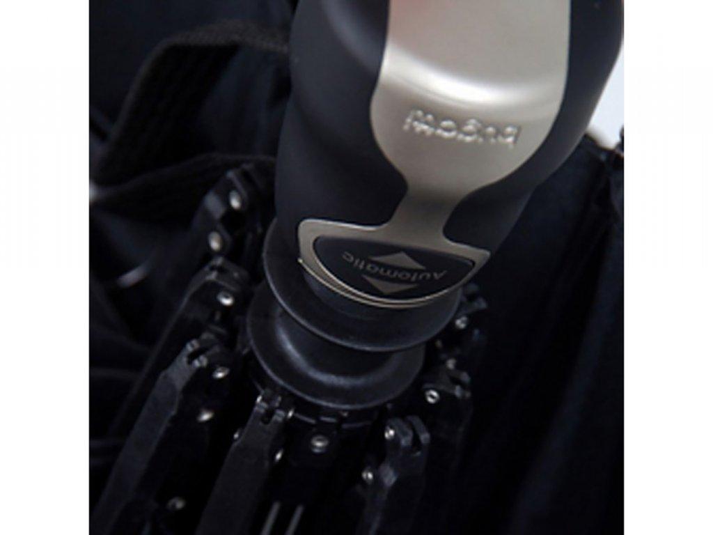 Pánský luxusní plně automatický deštník v černé barvě Bugatti Gran Turismo se vzorem Bugatti