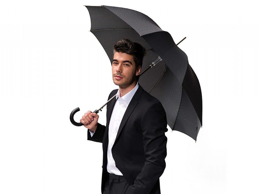 Doppler Long Carbonsteel luxusní pánský holový deštník se vzorem