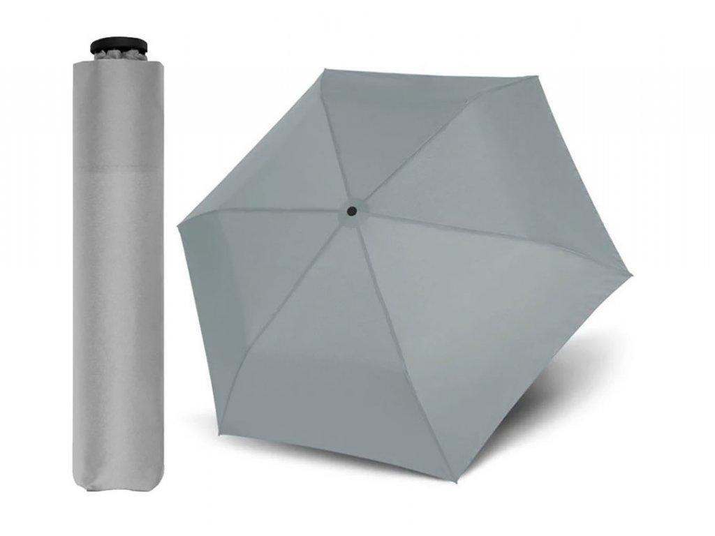 Doppler Zero 99 šedý ultralehký skládací mini deštník do kabelky