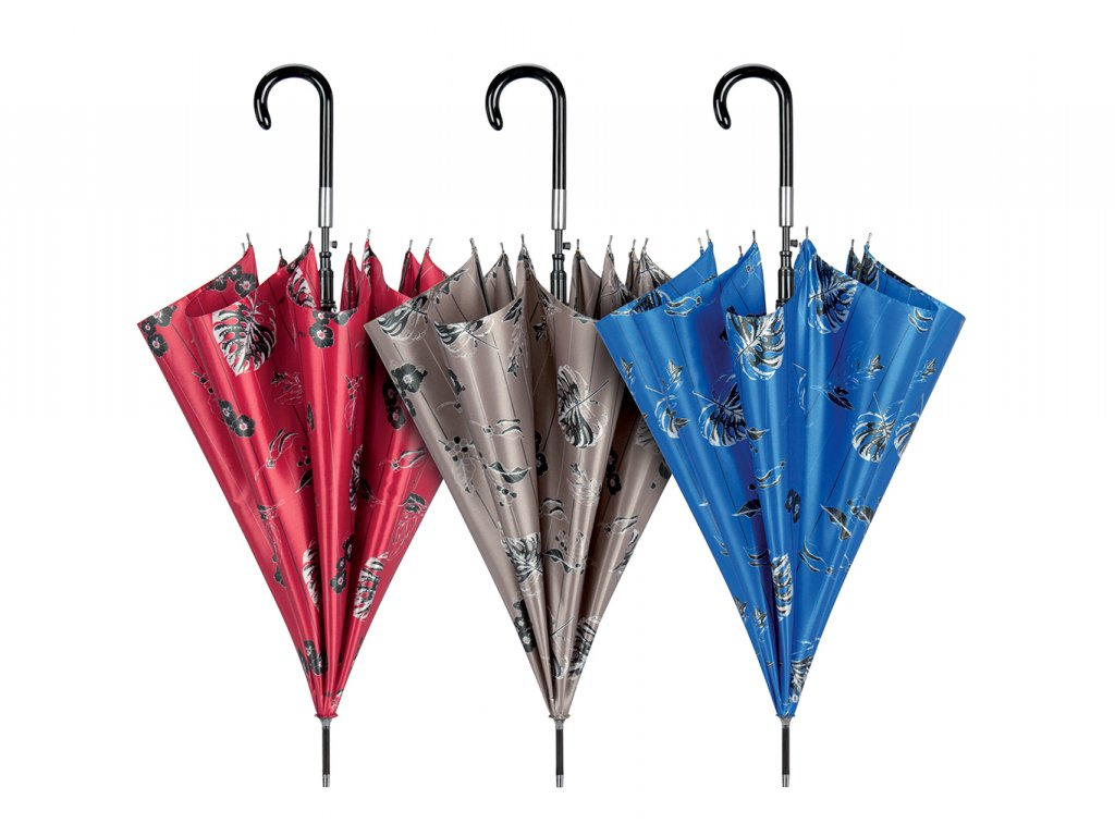 Cachemir Leaf Satin dámský luxusní holový deštník