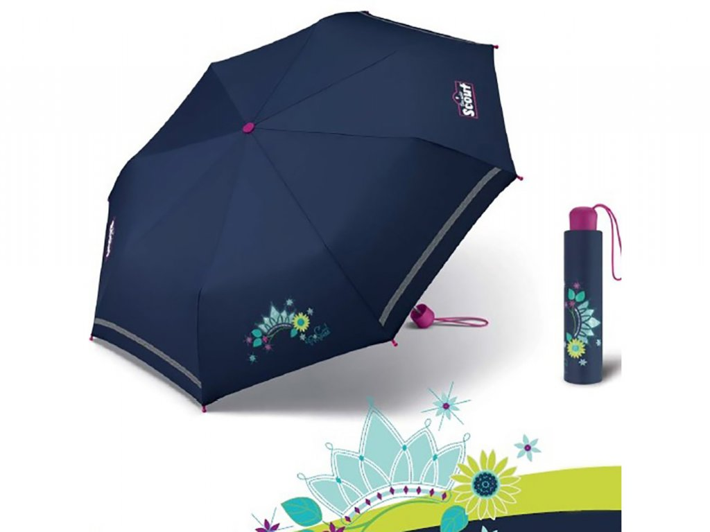 Scout COOL PRINCESS dívčí skládací deštník