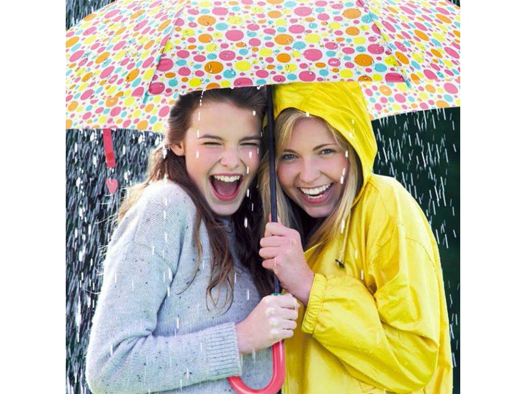 Cachemir Freestyle holový deštník s puntíky