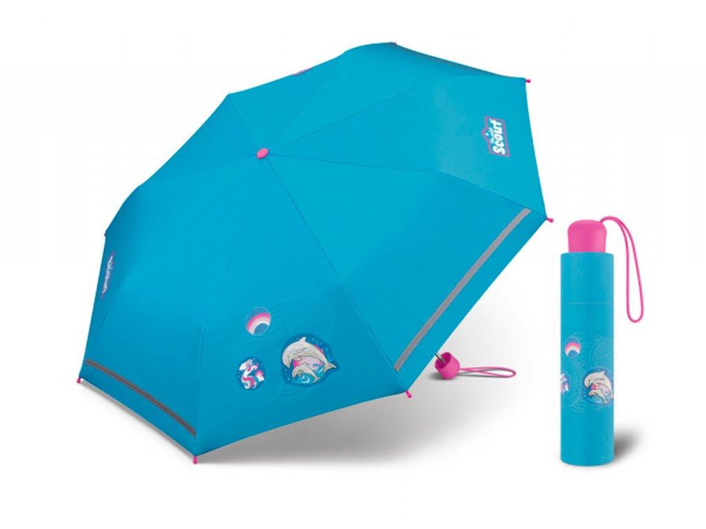 Dívčí deštník s delfínky