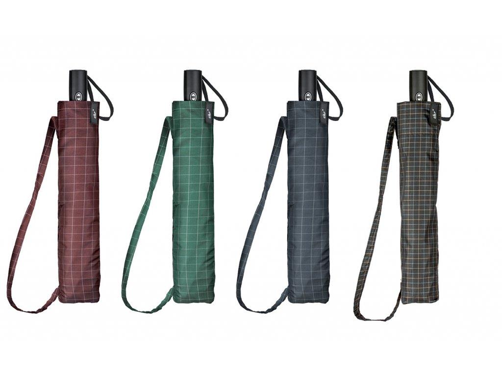 pánský károvaný golfový deštník skládací