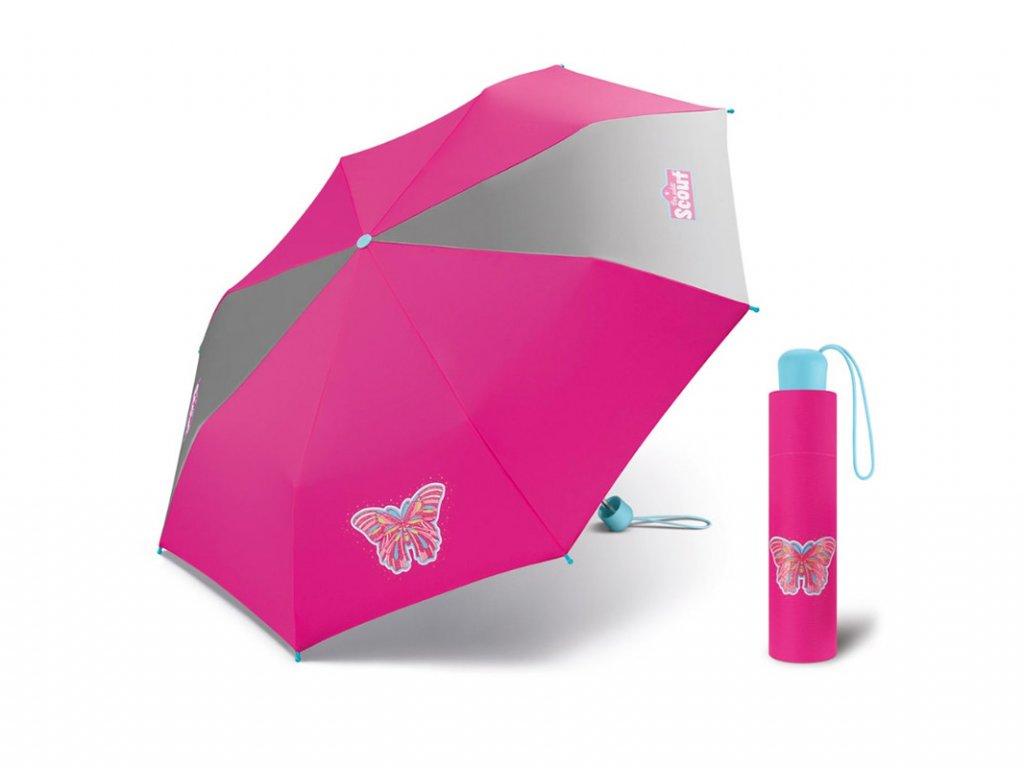 Scout BUTTERFLY dívčí deštník s obrázkem