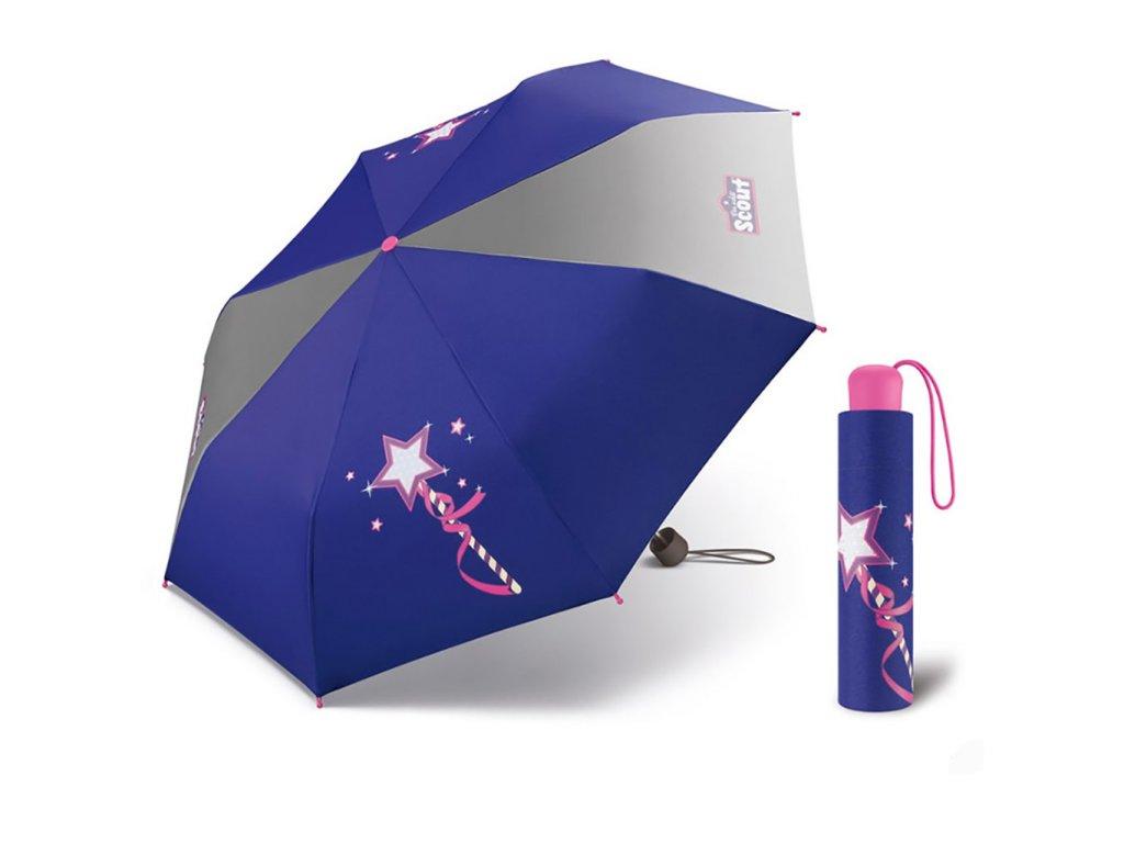 Scout MAGIC WAND dětský skládací deštník kouzelná hůlka