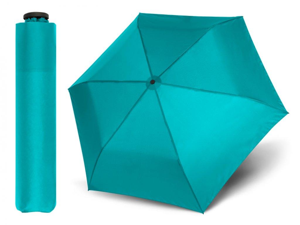 Doppler Zero Sun tyrkysový skládací odlehčený deštník