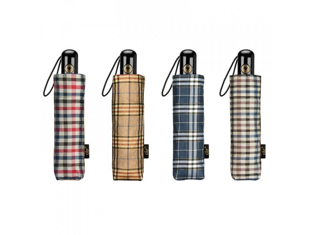 Cachemir Color Check luxusní dámský skládací deštník