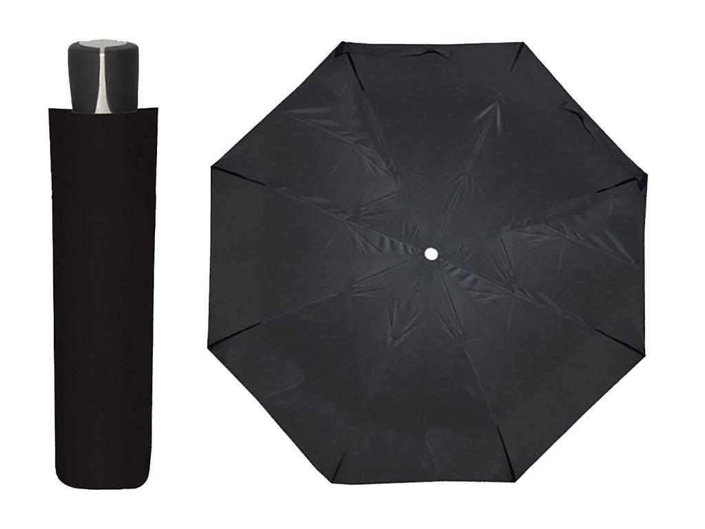 Dámský i pánský skládací deštník Doppler mini fiber černý