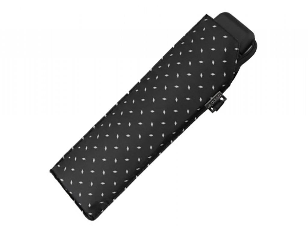 Doppler Carbonsteel SLIM Royal černý odlehčený skládací plochý deštník
