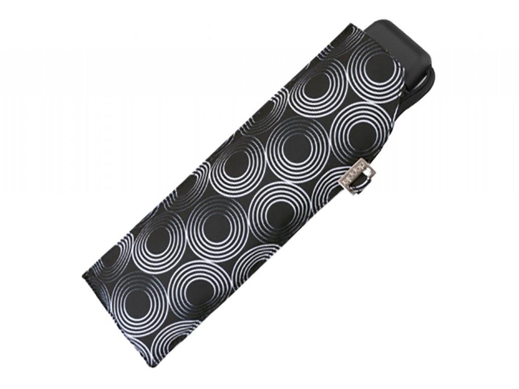 Doppler Carbonsteel SLIM Glow černý odlehčený skládací plochý deštník