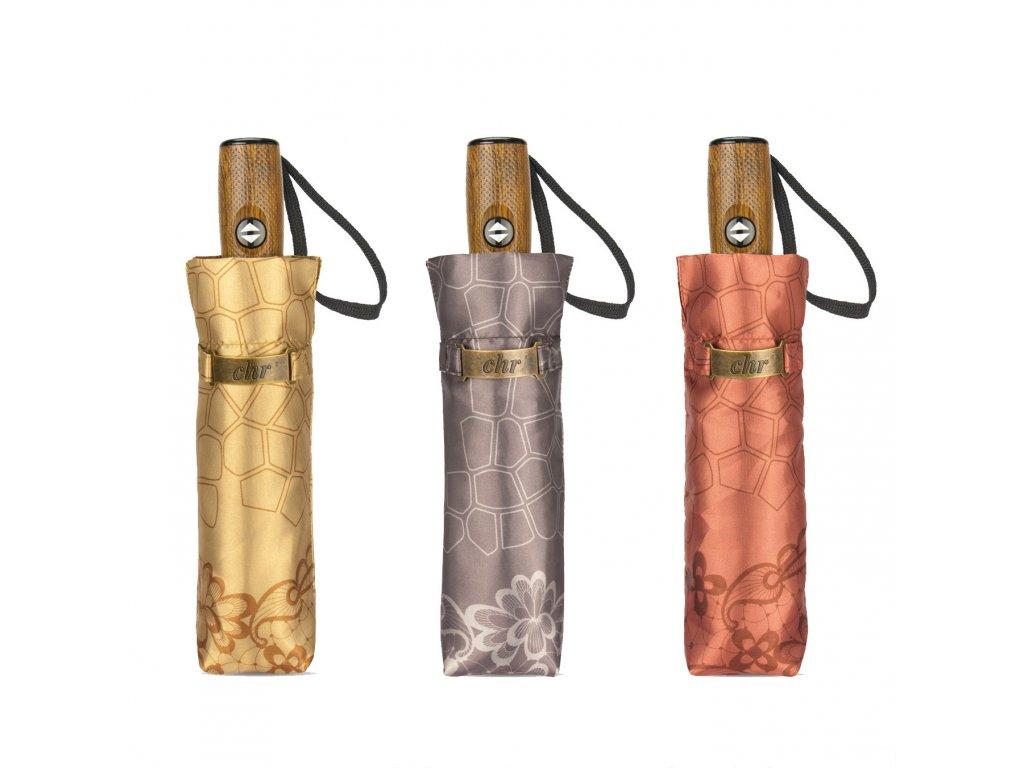 Cachemir Modernista dámský luxusní skládací deštník v dárkové krabičce
