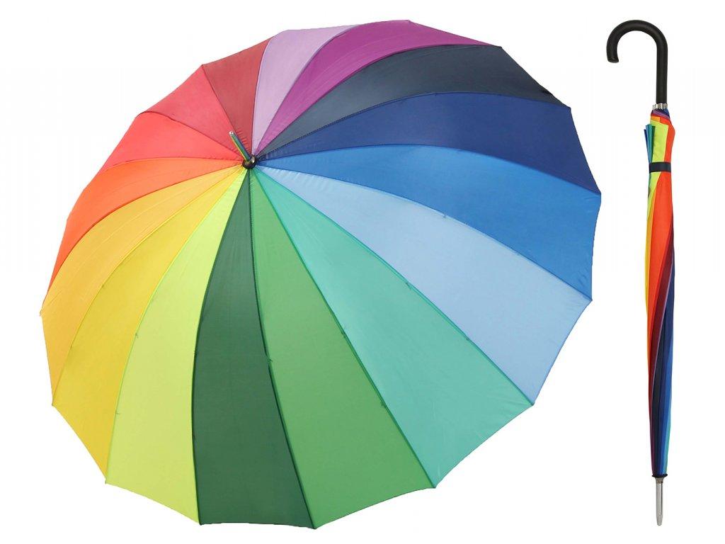 Extra velký duhovaný deštník Golf Rainbow pro dvě osoby
