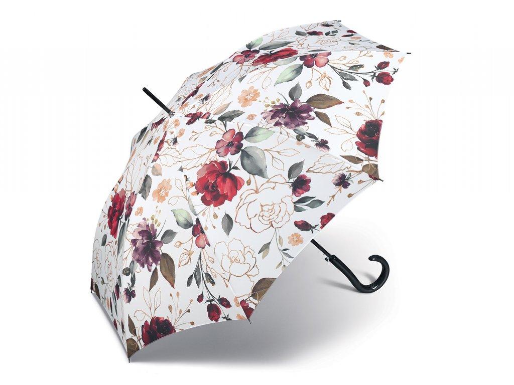 82527 Long AC Pivoine dámský holový deštník s pivoňkami