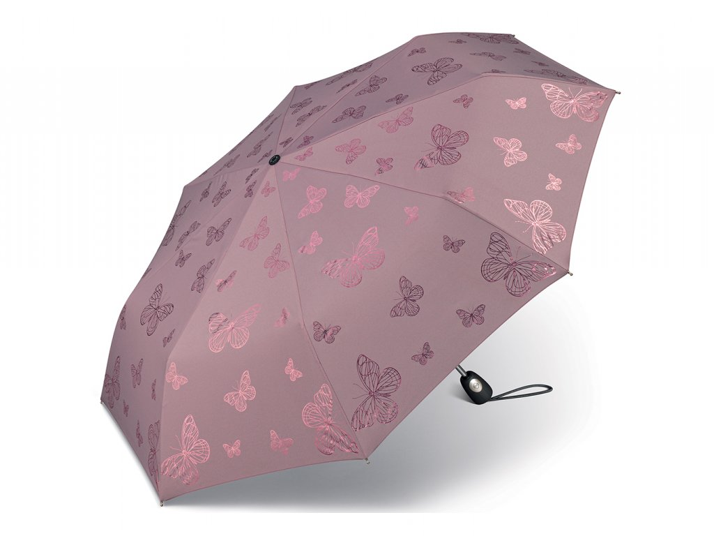 Dámský skládací plně automatický deštník Pierre Cardin Papillion s motýlky