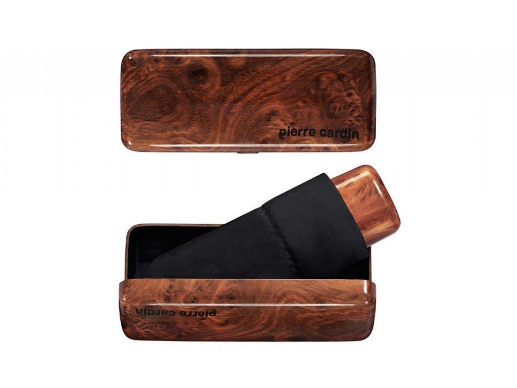 Pánský mini deštník v krabičce Pierre Cardin MYBRELLA WOOD