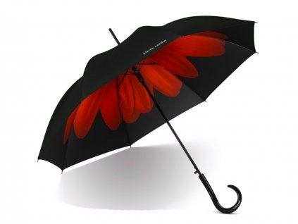 Dámský vystřelovací deštník Pierre Cardin červená kytička