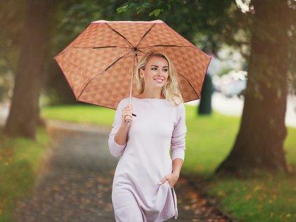 Dámský skládací mini deštník Cachemir Hexagonal béžový