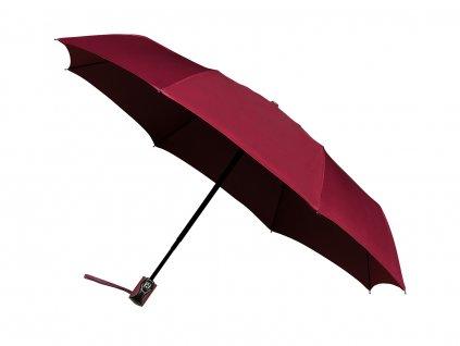 Plně automatický kvalitní deštník bordó