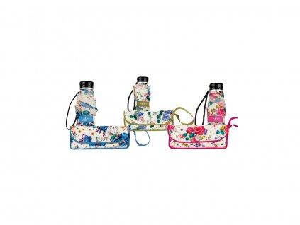 Cachemir Floral skládací dámský květinový mini deštník ve třech barvách