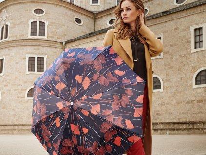deštník pro ženy se saténovým leskem