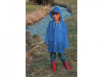 modrá dětská pláštěnka 152
