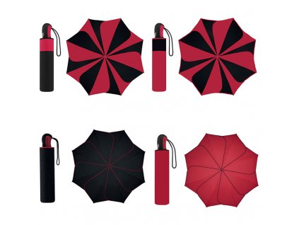 Deštník Pierre Cardin Sunflower Red & Black červený a černý
