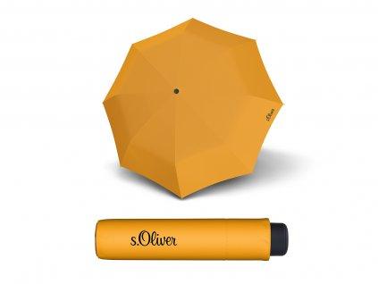 dámský mini deštník do kabelky s.Oliver smart žlutý