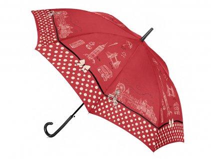 Cachemir London vystřelovací holový dámský deštník s potiskem Londýna