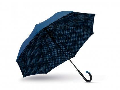 Cachemir Dogtooth luxusní dámský deštník s dvojitým potahem