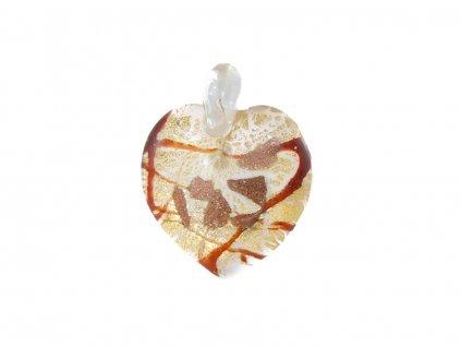 Přívěšek Murano Heart
