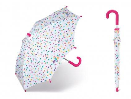 Long Colored Dots malý dětský puntíkovaný deštník