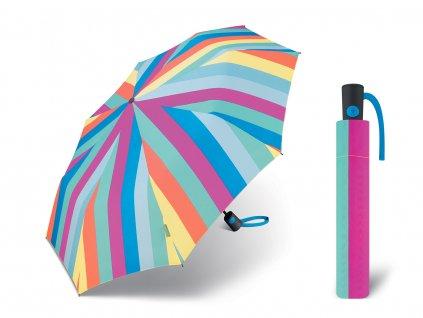 barevný proužkovaný deštník benetton