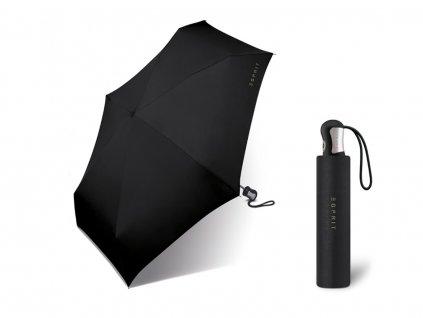 černý skládací plně automatický mini deštník esprit 4 section