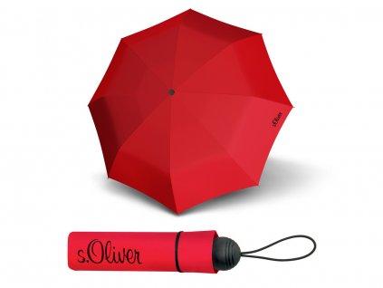 oblíbený dámský červený deštník s.Oliver