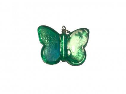 skleněný murano přívěsek motýl z benátského skla