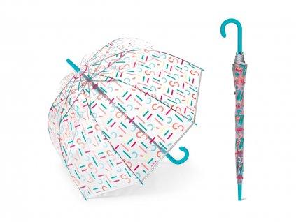 ESPRIT Letterjam dámský holový průhledný deštník