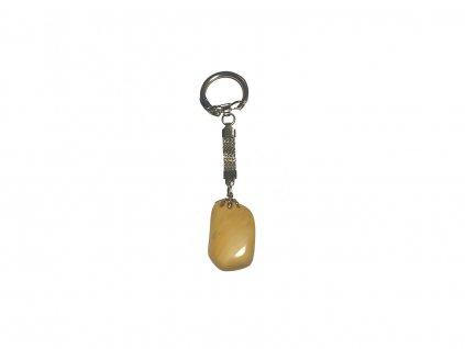 přívěsek na klíče jaspis žlutý