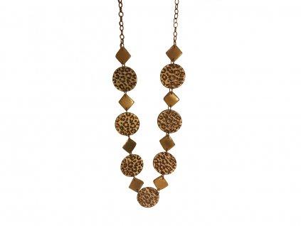 Dámský náhrdelník s leopardím vzorem