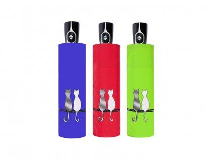 Doppler Magic Fiber CATS Family plně automatický deštník s dvěma koťátky