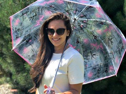 Dámský holový průhledný deštník Doppler St.Tropez