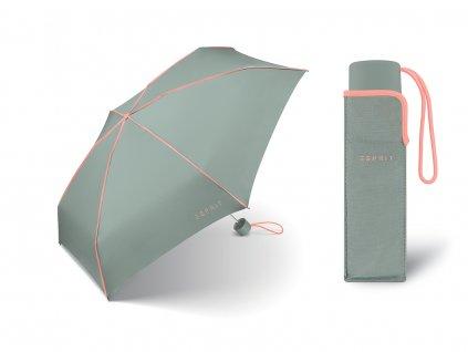 Dámský mini deštník Esprit Color Pop gray coral