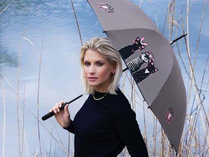 Doppler Long Royal CATS holový dámský deštník