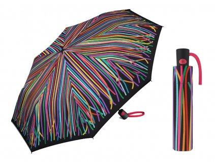 Dámský vystřelovací deštník Benetton Mini AC stuhy