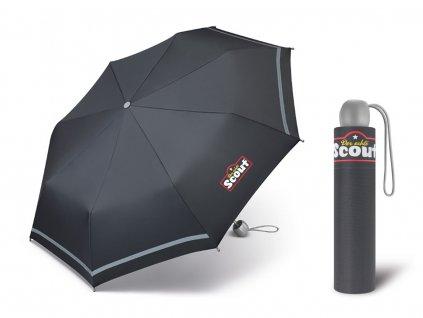 Chlapecký deštník Scout Basic grey