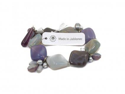 skleněný náramek made in jablonex