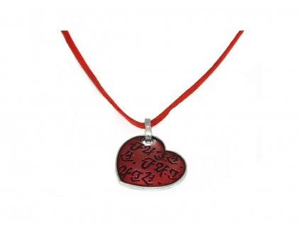 dámský náhrdelník červené srde