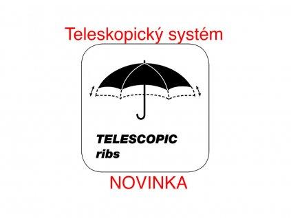 Cachemir Golf Telescopic vystřelovací golfový deštník